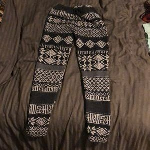 Very warm thick leggings. Girls size 8